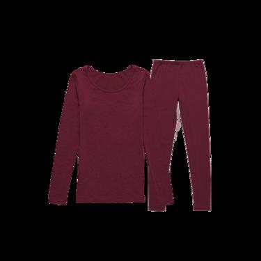 网易严选 女式咖啡碳+5℃保暖套装(上衣+裤子)