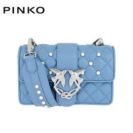 PINKO /品高 LOVE 系列 女士时尚单肩铆钉燕子包 1P212P Y4HP 蓝色 洲际速买
