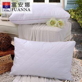 富安娜 FUANNA 柔软绣花深睡枕 纯棉羽丝绒枕芯 70*45cm 蓬松枕头