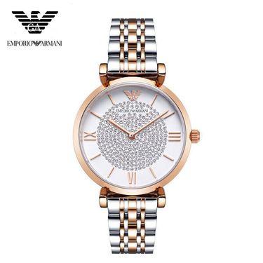 EMPORIO ARMANI 阿玛尼(ARMANI)满天星手表 欧美镶钻钢制表带 圆形石英女士手表