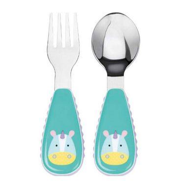SKIP-HOP Skiphop 可爱动物园餐具不锈钢叉勺组合