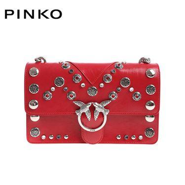 PINKO /品高 女士个性钉珠装饰单肩斜挎燕子包 1P217W Y512 红色 洲际速买