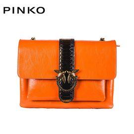 PINKO /品高 女士经典纯色单肩斜挎燕子包 1P2186 Y51P 姜黄色 洲际速买