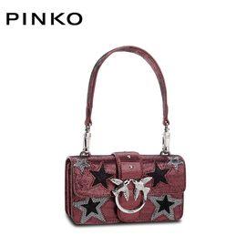PINKO /品高 MINI LOVE 女士时尚单肩包燕子包 迷你 星星 黑色红色拼色 洲际速买
