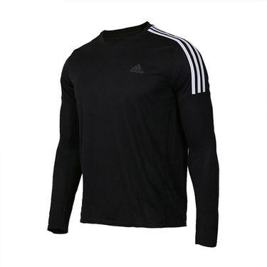 阿迪达斯 Adidas 男装2018秋季新款运动透气休闲圆领长袖T恤CZ8097