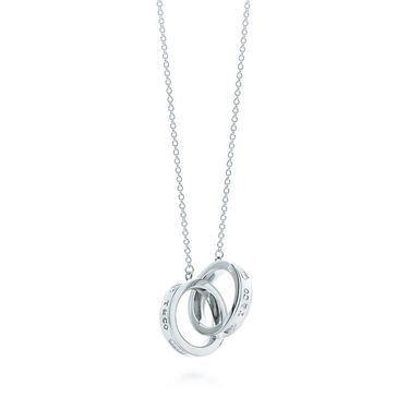 蒂芙尼 女款1837系列双环扣吊坠项链 22992147