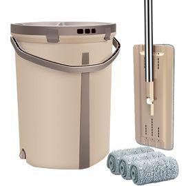 家杰 洗刷刷 免手洗平板拖把拖布套装 家用擦木地板瓷砖旋转墩布 洗脱合一自刷洗拖把桶 3块布 JJ-A18