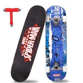 漫威 儿童滑板四轮双翘刷街滑板青少年成人代步公路板蜘蛛侠VCD71191-S