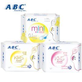 ABC ABC 卫生巾 棉柔系列 纤薄日用夜用混合装2包16片 加上 ABC超薄日用迷你巾 1包8片