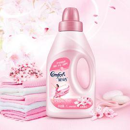 金纺 衣物护理剂 淡雅樱花香味 柔顺剂柔软剂防静电 1L 两瓶装