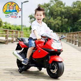 智乐堡 儿童电动车摩托车宝马越野车玩具车可坐人3-6岁宝宝电瓶车