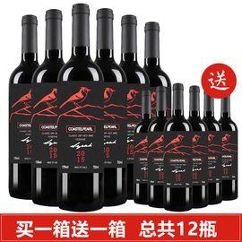 COASTEL PEARL 【买一箱送一箱】智利原酒进口红酒 天籁干红葡萄酒750ml *6瓶 整箱特惠