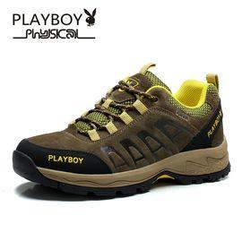 花花公子 登山鞋男徒步鞋旅游鞋子户外休闲鞋男士户外鞋