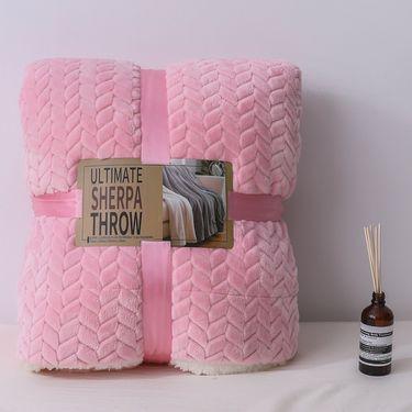 嘉若彤 秋冬季小毛毯加厚保暖双层羊羔绒毛毯法兰绒毯LP-207