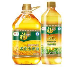 福临门  黄金产地玉米油900ml 、福临门 纯正压榨 非转基因 玉米油3.5L