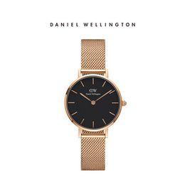 Daniel Wellington DW手表女新款32mm金边白盘金属表带欧美简约石英女表