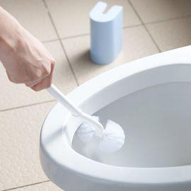 丽芙 双球无死角清洁马桶刷 家用马桶刷套装创意免打孔卫生间洗厕所刷子新款长柄无死角清洁刷
