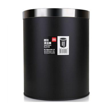 得力 金属桶身清洁垃圾桶 9199