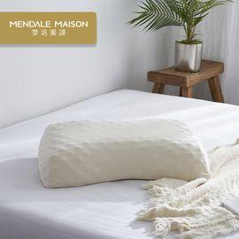 梦洁美颂 梦洁家纺出品泰国进口三维颗粒SPA按摩美颜乳胶枕一对