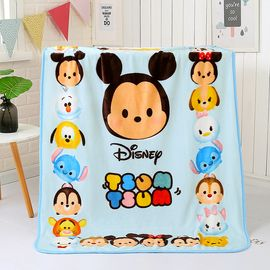 DISNEY 迪士尼法兰绒儿童午睡盖毯珊瑚绒新生儿婴儿毛毯宝宝云毯毯子薄被