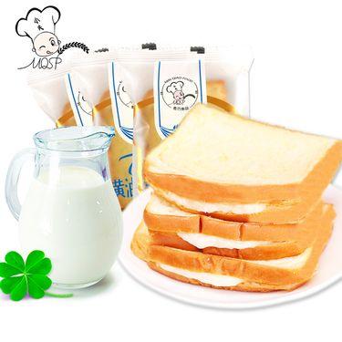 小夫 【黄油切片吐司面包整箱350g】夹心营养早餐手撕面包糕点批发零食