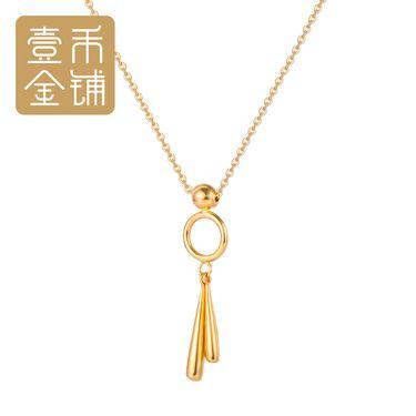 延金 圆形几何形状吊坠项链18K金42cm(不含延长链) 约3.39g