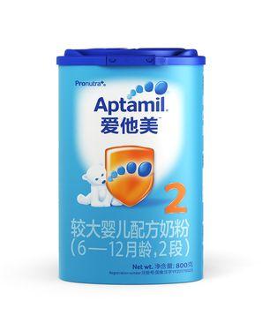 爱他美 2段奶粉 Aptmail爱他美较大婴儿配方奶粉2段(6-12个月)800g/罐(新老包装随机发货)