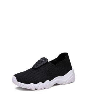 斯凯奇 女款运动休闲鞋 Skechers斯凯奇 时尚编织一脚套套脚休闲鞋 舒适缓震女鞋 透气女运动鞋