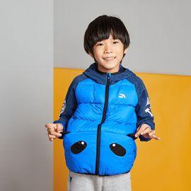 安踏 男童运动羽绒服 安踏 (3-6岁)男小童长袖连帽羽绒防风保暖儿童外套 男童童装