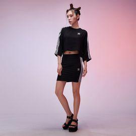 阿迪达斯 女款裙子 阿迪达斯adidas 三叶草系列LOGO印图 女款短裙半身裙