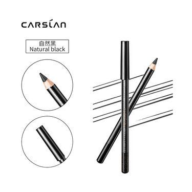 眼线笔 卡姿兰Carslan恒久柔美眼线笔升级版01#自然黑防水 防汗 不脱色  一笔成型,初学真**