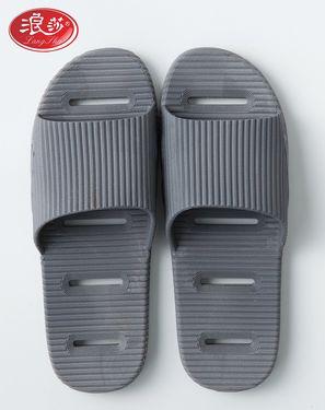 家居拖鞋 条纹镂空防滑浴室专用家居拖鞋