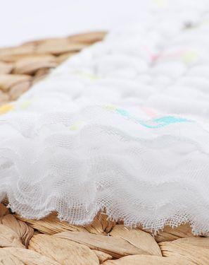 围嘴/口水巾/罩衫 威尔贝鲁四季款婴儿水洗纱布方巾(3入)5层纱布  挂扣设计