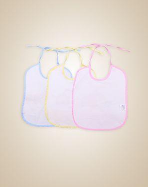 围嘴/口水巾/罩衫 毛巾压胶中围3个装随机发
