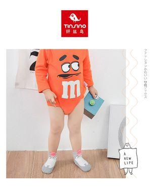 儿童袜 3双装戴帽子熊熊舒适短筒棉袜短袜儿童船袜男童袜子女童袜子儿童袜子