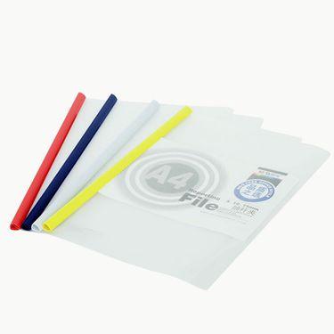 档案夹/档案套 晨光M&G12岁以上学生文具10mm文件夹抽杆夹透明押杆夹拉杆夹单页夹10个装