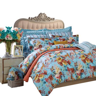 富安娜 1.5米床纯棉床品四件套,柔软亲肤 款式随机发货