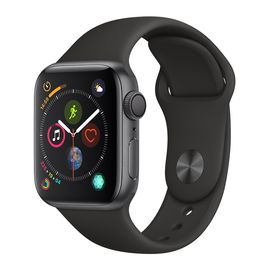 Apple/苹果 Watch Series 4 GPS款 44毫米深空灰色铝金属表壳 黑色运动型表带 MU6D2CH/A
