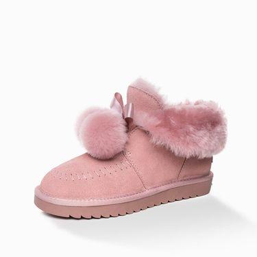 Ozwear UGG 澳洲直邮秋冬新款OB403皮毛一体毛球雪地靴