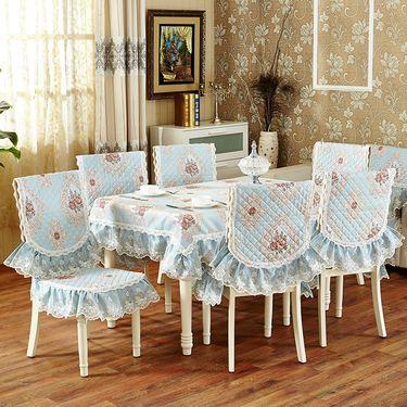 艾桐 欧式提花桌布 餐椅垫