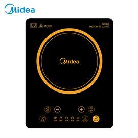 美的MIDEA 电磁炉 HT2218HM 家用按键式大功率速热 定时黑晶面板 防水电池炉灶 黑色