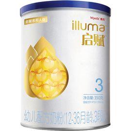 惠氏 (Wyeth illuma)启赋幼儿配方奶粉3段350克
