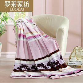 罗莱 粉红绚烂舒柔呵护法兰绒毯