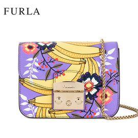 FURLA 芙拉 METROPOLIS系列 潮流明星款链条锁扣包 941742 水果图案装饰小方包 浅紫色 洲际速买