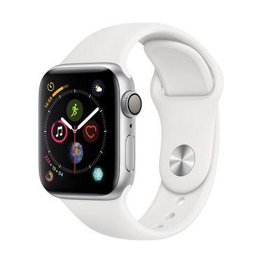 Apple/苹果 Watch Sport Series 4智能手表 GPS款 40毫米银色铝金属表壳搭配白运动型表带