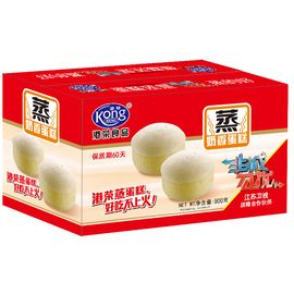 港荣  奶香蒸蛋糕900g整箱早餐代餐糕点(sy)