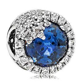 PANDORA 潘多拉 时尚蓝色雪花装饰圆形串珠 796358NTB