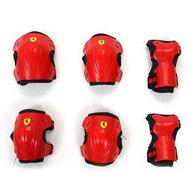 Ferrari 麦斯卡法拉利儿童自行车护具套装轮滑护具护肘护膝护手6件套
