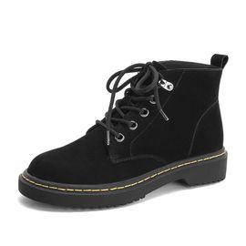 Tata 他她专柜同款土黄磨砂牛皮革休闲马丁靴踝靴女短靴 EHF01DD8