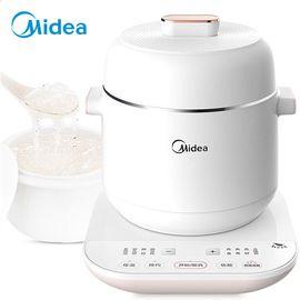 美的MIDEA 电炖锅 电炖盅 婴儿粥 养颜汤 煲汤锅 隔水炖 燕窝炖盅 白瓷内胆 WBZS0801F